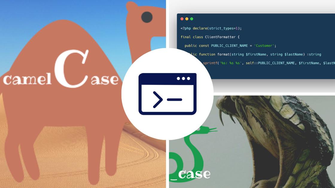 Traducir las convenciones de nombres del código (localización): camelCase, PascalCase, SNAKE_CASE, kebab-case y Train-Case
